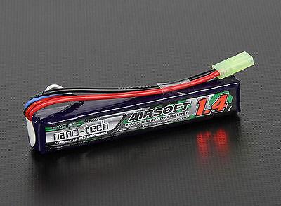 BATTERIA TURNIGY NANO-TECH 1400 MAH 3S 15-25C LIPO 11.1 V AIRSOFT SOFT AIR