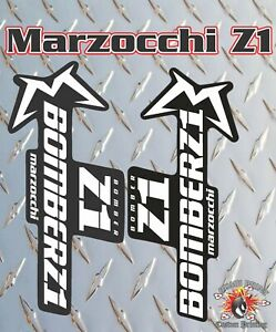 DH Marzocchi Z1 2018 Style Style Fork Sticker Decal Graphics Enduro yellow