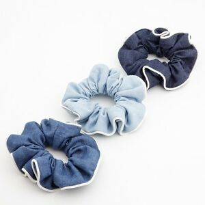Denim-fabric-Hair-Elastic-Band-Scrunchies