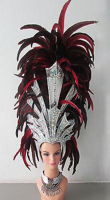 Da NeeNa H127 Vegas Feather Roman King Queen of the World Warrior Headdress