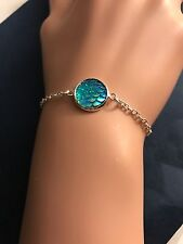 Mermaid Dragon Scale Green Bracelet