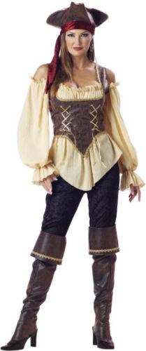 Morris Costumes Women/'s Gold Trim Embossed Vinyl Corset Pirate Costume IC1024XL