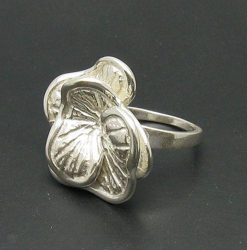 Sterling Silver Ring Genuine Solid Stamped 925 Huge Flower Handmade Empress
