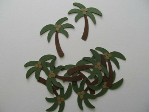 10 Layered Tropical Palm Tree Cardstock Diecuts Decorations,Scrapbooking,Cards