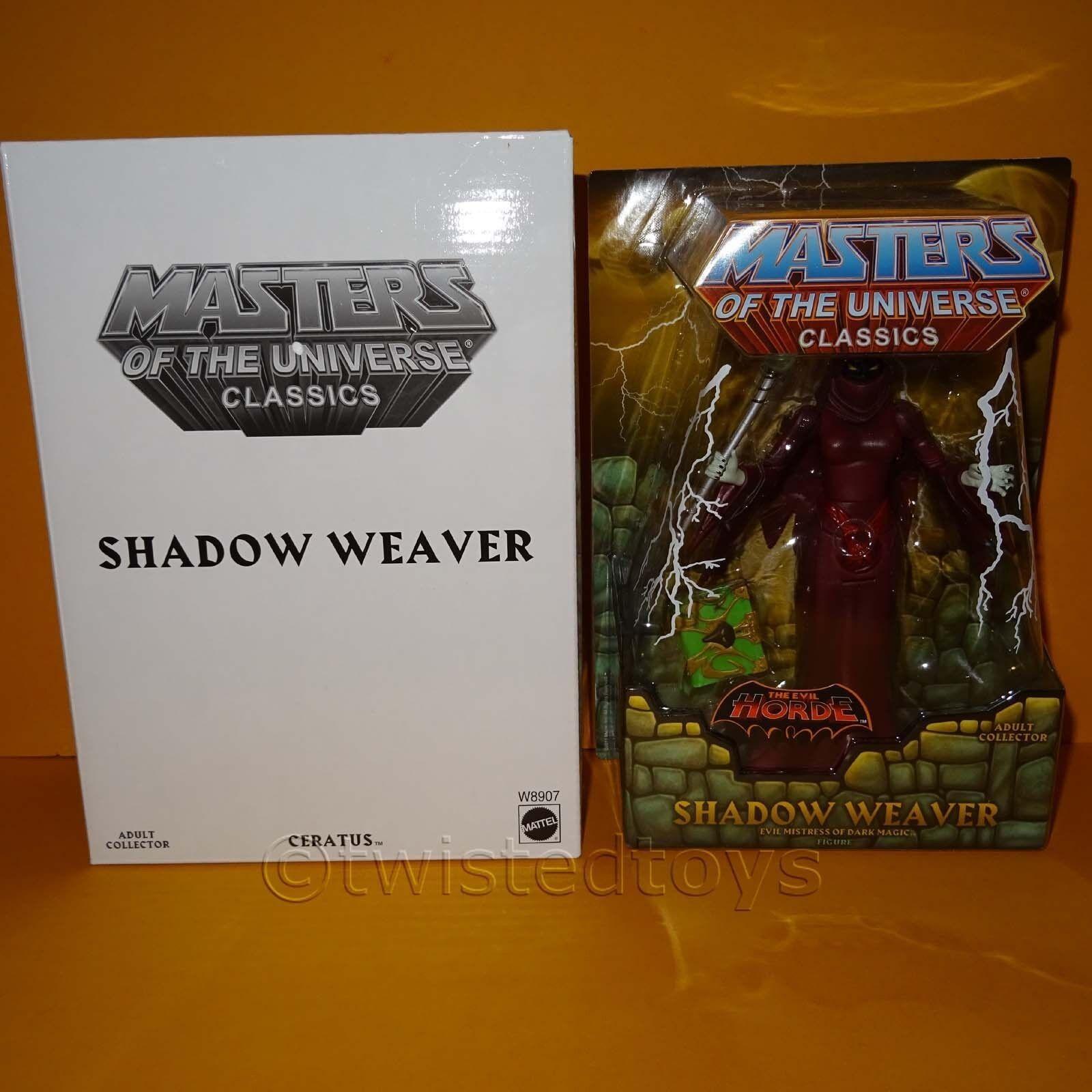 2011 MATTEL MOTU HE-uomo Masters Of the Universe  classeeics ombra WEAVER MOC autoD  liquidazione