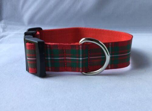 Dog Collar Scottish MacGregor Tartan Unique Funky Pet Supply Handmade Plaid Clan