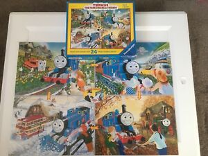 Details about Thomas the tank engine: 24 piece giant floor jigsaw puzzle in  box: four seasons