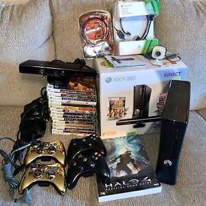 Microsoft Xbox 360 Kinect Bundle 250GB Matte Black Console ...