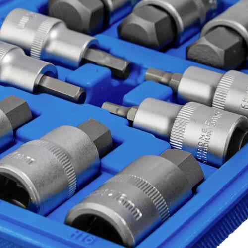Coffret de 12 pcs clé à douille mâle intérieur embout hexagonal ½ pouce outils