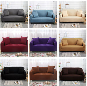 Pure-Color-Stretch-Elastic-Fabric-Sofa-Sectional-Corner-Couch-Cover-1-4-Seater