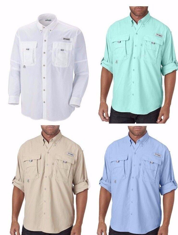 Columbia Men's BAHAMA II Long Sleeve Fishing Shirt, Sizes s-2XL, 3XL, 7048