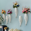 Fish-Ceramic-Wall-Mounted-Vase-Decorative-Hanging-Flower-Vase-with-Flower-B thumbnail 1
