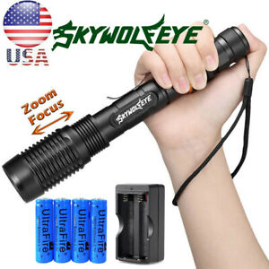 UltraFire 90000LM T6 LED 18650 Super Bright Zoom Flashlight Powerful Lamp Torch