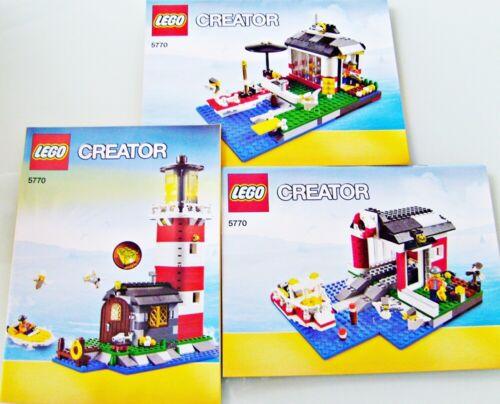 Lego® BAUANLEITUNG Creator 5770 LEUCHTTURM NEU BA Anleitungen Lighthouse Island