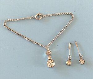 Vintage Doll Jewelry Necklace Earrings Rhinestone Madame Alexander Cissy Toni