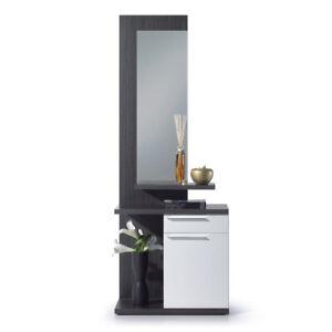 Recibidor-con-espejo-mueble-entrada-vestibulo-moderno-Blanco-Brillo-y-Ceniza