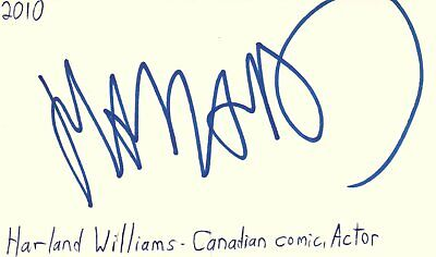 Harland Williams Canadian Actor Comedian Autographed Signed Index Card Autographs-original