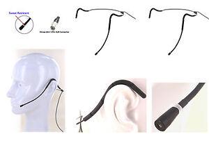 Compatible Avec Audio-technica Hirose T300 2pcs Mini Sweat Résistant Micro Casque-afficher Le Titre D'origine