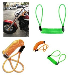 DISC-LOCK-REMINDER-CABLE-For-MOTORCYCLE-MOTORBIKE-SCOOTER-BIKE-4-Colors