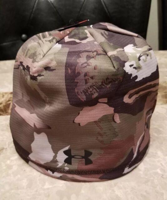 126313bc9e3 Mens UA Storm Camo Beanie Hat Under Armour OSFA Hunting Scent Control  1300466