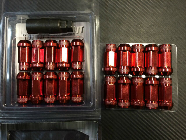 1320 Performance Red 14x1.5 Steel extended lug nuts m14 x 1.5 20 pcs forged