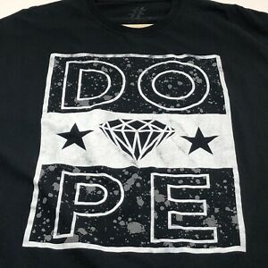 Dope-Diamond-Star-Men-s-Short-Sleeve-T-Shirt-4XL-XXXXL-Black-White-Crewneck
