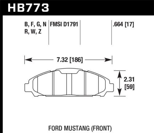 Disc Brake Pad Set-HP Plus Disc Brake Pad Front Hawk Perf fits 2015 Ford Mustang