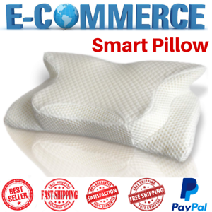 Smart Deluxe Orthopedic Memory Foam Pillow White For Cervical Confort Sleeping