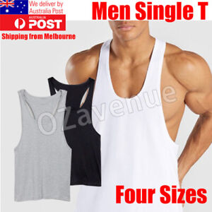 Men-Gym-Bodybuilding-Stringer-Tank-Top-Singlet-Vest-Sleeveless-Racerback-T-Shirt