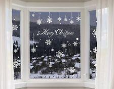 100 Christmas Window Decorations Sticker Art Elegant Snowflake Xmas ...