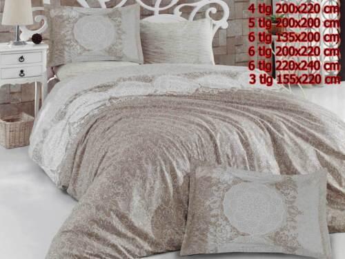 Bettwäsche Bettgarnitur Bettbezug 100/% Baumwolle Kissen Decke ZÜMRÜT CREME