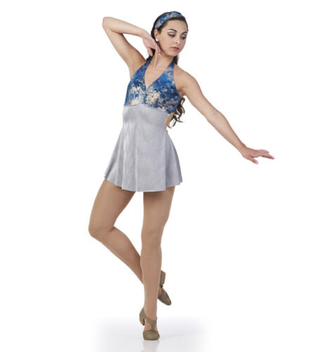 Adult 3XL Catch Me Lyrical Ballet Dance Costume Dress Foil Tie Dye 3 Colors 6X7