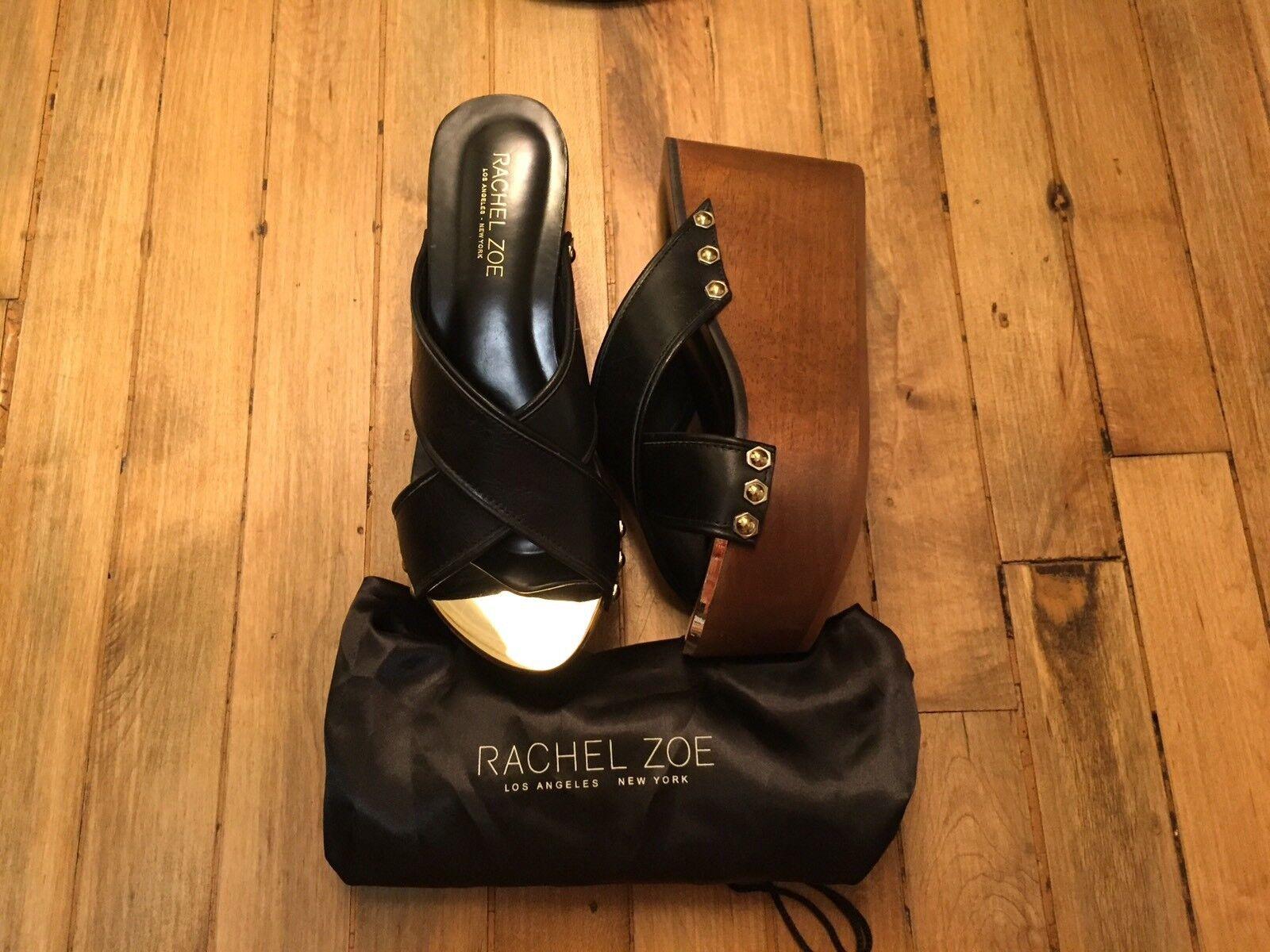 RACHAL ZOE MADDI WOODEN PLATFORM OPEN TOE Schuhe NEW SIZE 7.5 298.00
