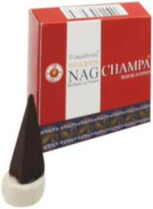 Original-Vijayshree-Golden-Nag-Champa-Masala-10-Cone-Pack-Of-Incense-Cones
