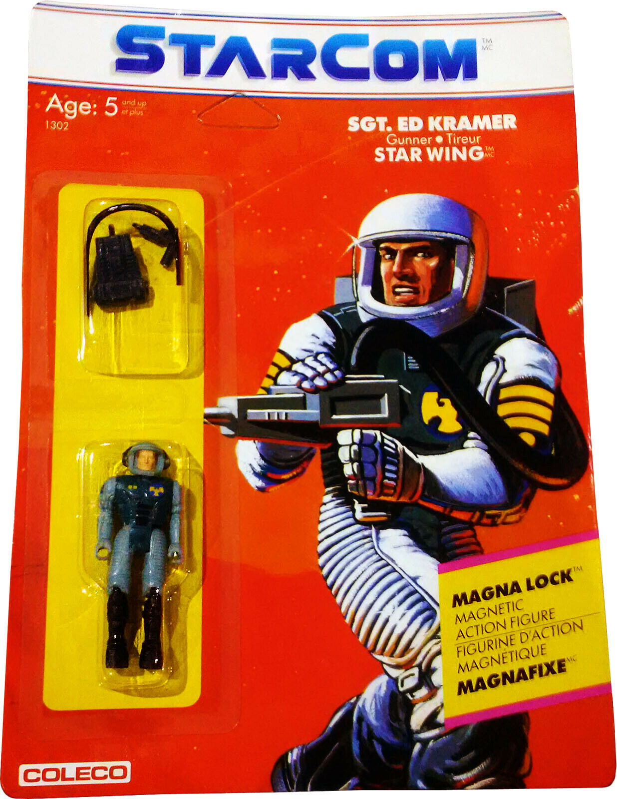 EstrellaCom ™ Sgt. Ed Kramer Figura De Acción-Vintage 1986-como nuevo en tarjeta sellada  nuevo  figura De Acción autoridad él