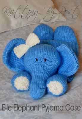 TOY KNITTING PATTERN  Elephant Pyjama Case. Chunky Knitting by Post Pattern
