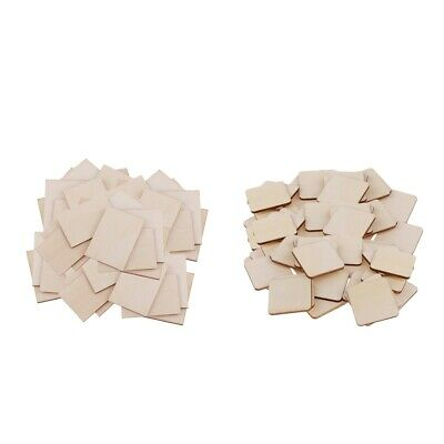 100//50 Square MDF Unfinished Wood Pieces Blank Plaque For DIY Craft Pyrography N
