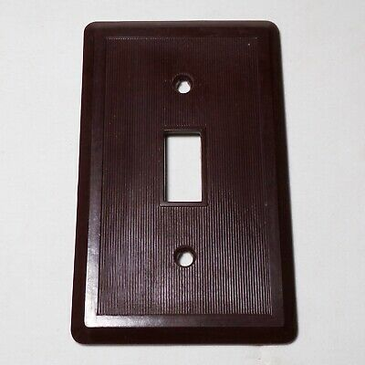 MINT Vintage ART DECO IVORY Bakelite 2 Switch Wall Plate Cover Mid Century SCREW