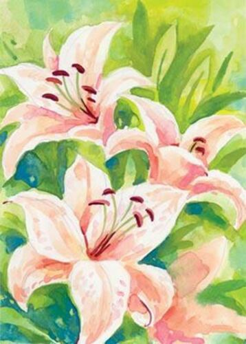 """Up Close Lily Brilliance Garden 13/"""" x 18/"""" Approx Size Flag TOL 117061"""