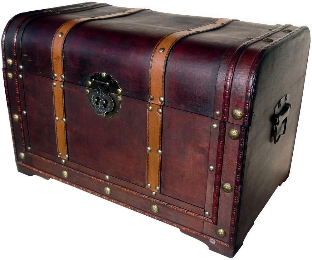 WUNDERSCHÖNE SCHATZKISTE SCHATZTRUHE KISTE TRUHE HOLZ KASTEN BOX BOX BOX Grösse 45  NEU | Abgabepreis  278015