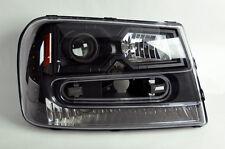 Chevy Trailblazer 02-09 Black LED DRL Projector Headlights Pair RH LH