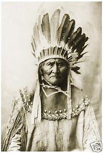 "GERONIMO Native American INDIAN CANVAS Photo Giclee Art Print - LARGE 13"" x 19"""