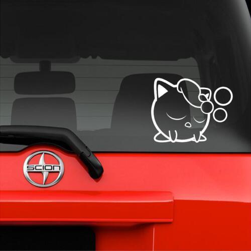 "7/"" x 5.5/"" Vinyl Decal Sticker Wall Pokemon Smash Jigglypuff Rest Window Car"
