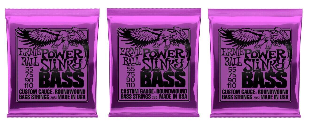 Ernie Ball 2831 Power Slinky Slinky Slinky bajo eléctrico guitarra, cuerdas de 55-110 (3 paquetes)  ahorre 60% de descuento