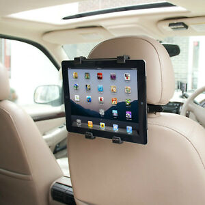 "Universal Headrest Seat Car Holder Mount for iPad 1 2 3 4, Air & 10"" Tablets"