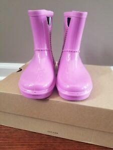 UGG Rahjee Pink Rain Boots Size 12