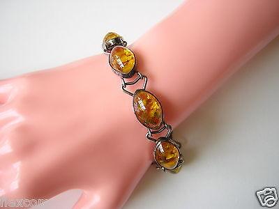 Fine Bracelets Fine Jewelry Antikes Fischland Bernstein Armband Armkette 835 Silber Pressbernstein 19,2 G