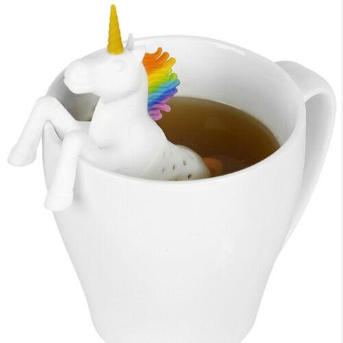 Cute Silicone Unicorn Tea Infuser Rubber Loose Tea Leaf Strainer Herbal Filter
