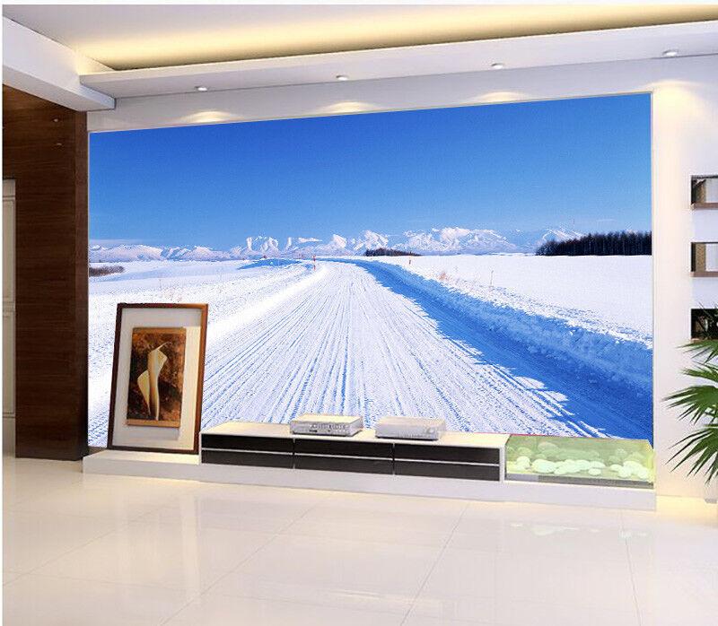 3D Weiße Schnee Auffahrt 865 Tapete Wandgemälde Tapete Tapeten Bild Familie DE