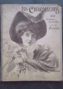 BROCHURE MUSIQUE PARTITIONS 1910 LES CHARMEUSES 20 VALSES PIANO ENOCH ABE